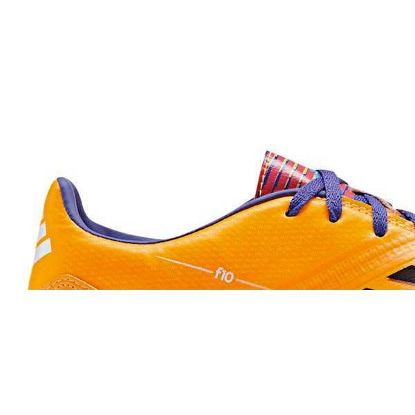 Chuteira Adidas F10 TRX TF Preto e Laranja