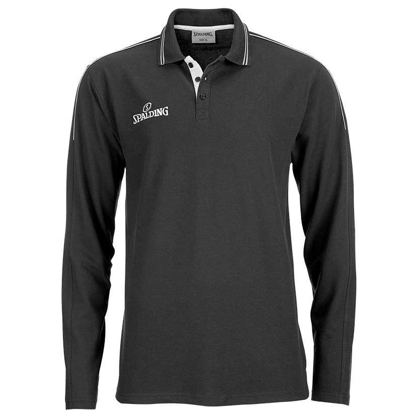 Spalding Polo L/S Shirt Grey