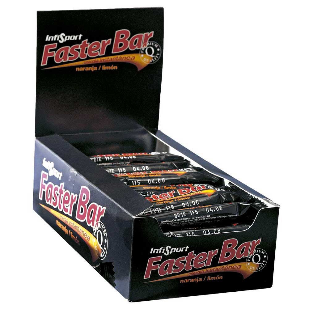 Infisport Faster Bar 25gr X 28 orange/lemon