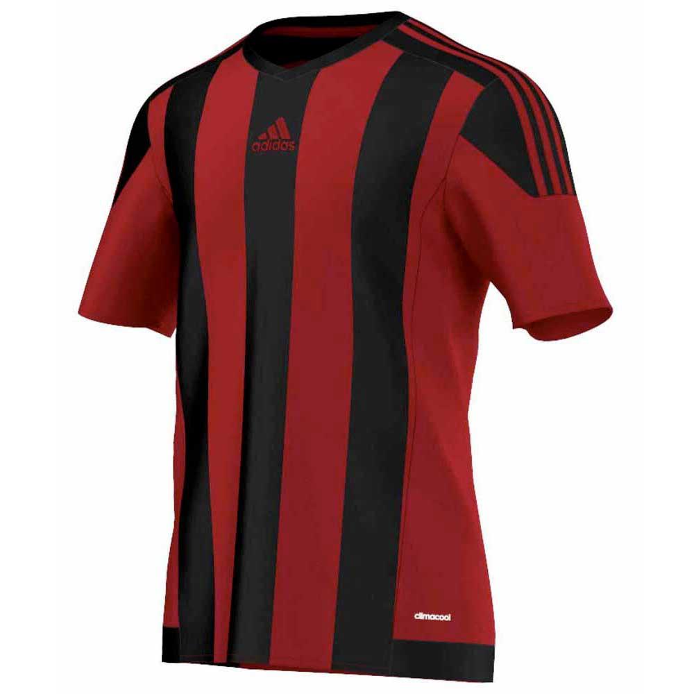 adidas Striped 15 Short Sleeve T-Shirt Black, Goalinn