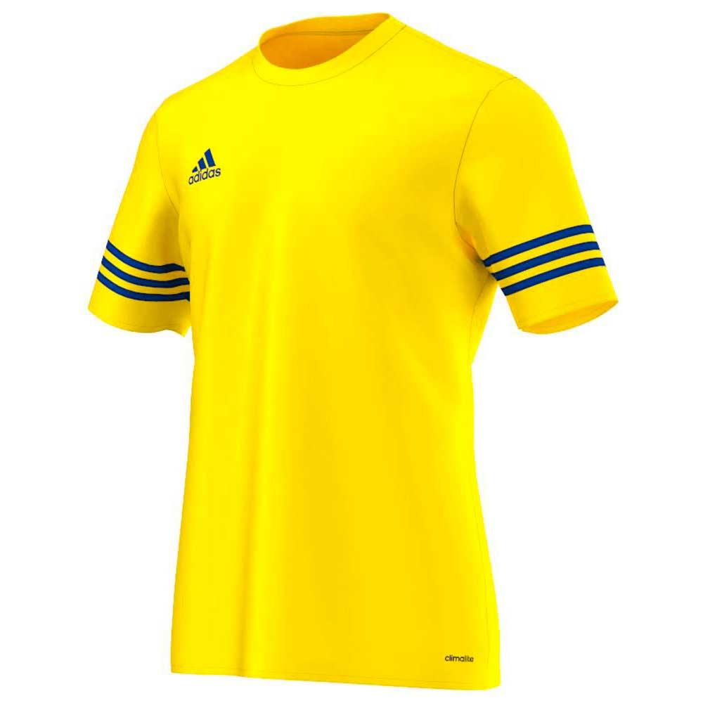 adidas Entrada 14 Jersey Short Sleeve T-Shirt Yellow, Goalinn