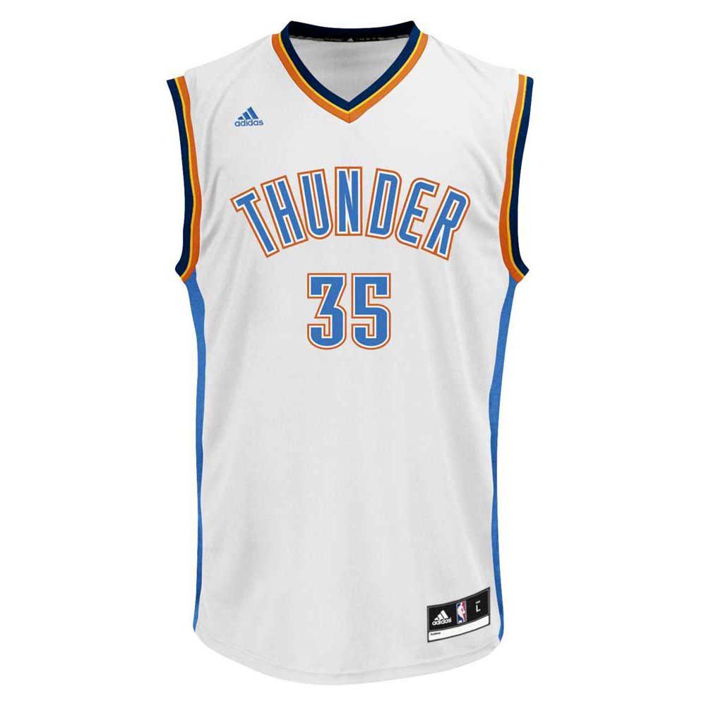 1746f9f6743e adidas Oklahoma City Thunder Kevin Durant Away Replica 16 17 White ...