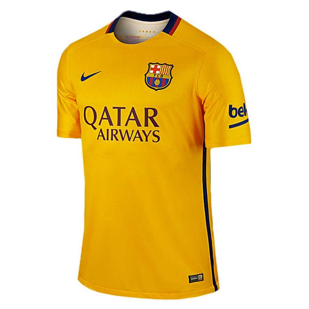 bb0386ae57f Nike FC Barcelona Away 15 16 Yellow buy and offers on Goalinn