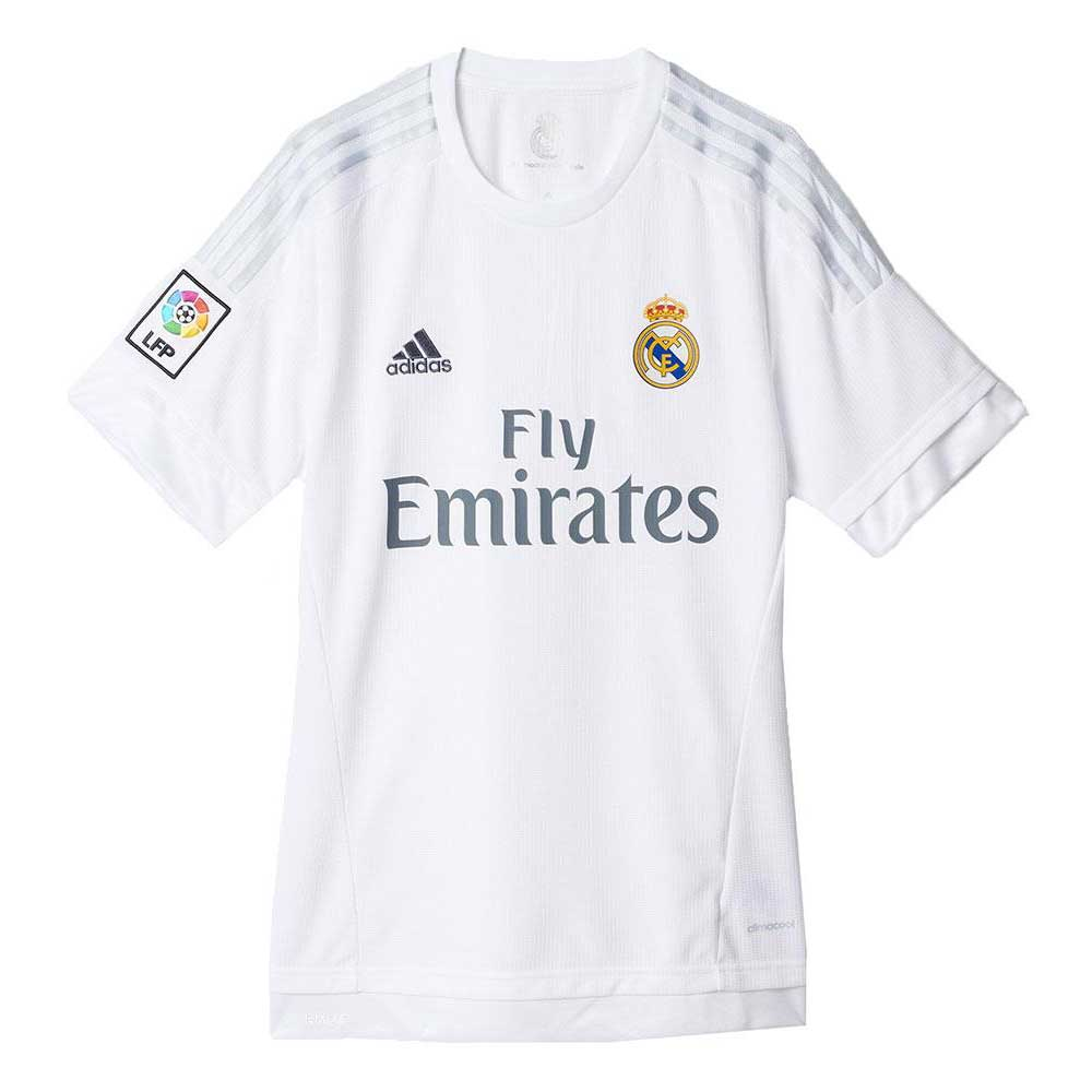 adidas t shirt real madrid white buy and offers on goalinn. Black Bedroom Furniture Sets. Home Design Ideas