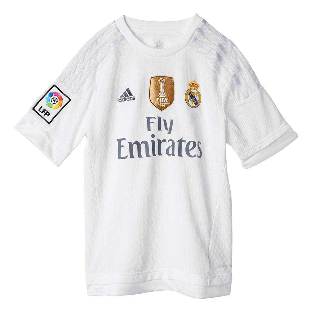 adidas t shirt real madrid 2015 2016 equipement officiel clubs acheter et offres sur goalinn. Black Bedroom Furniture Sets. Home Design Ideas