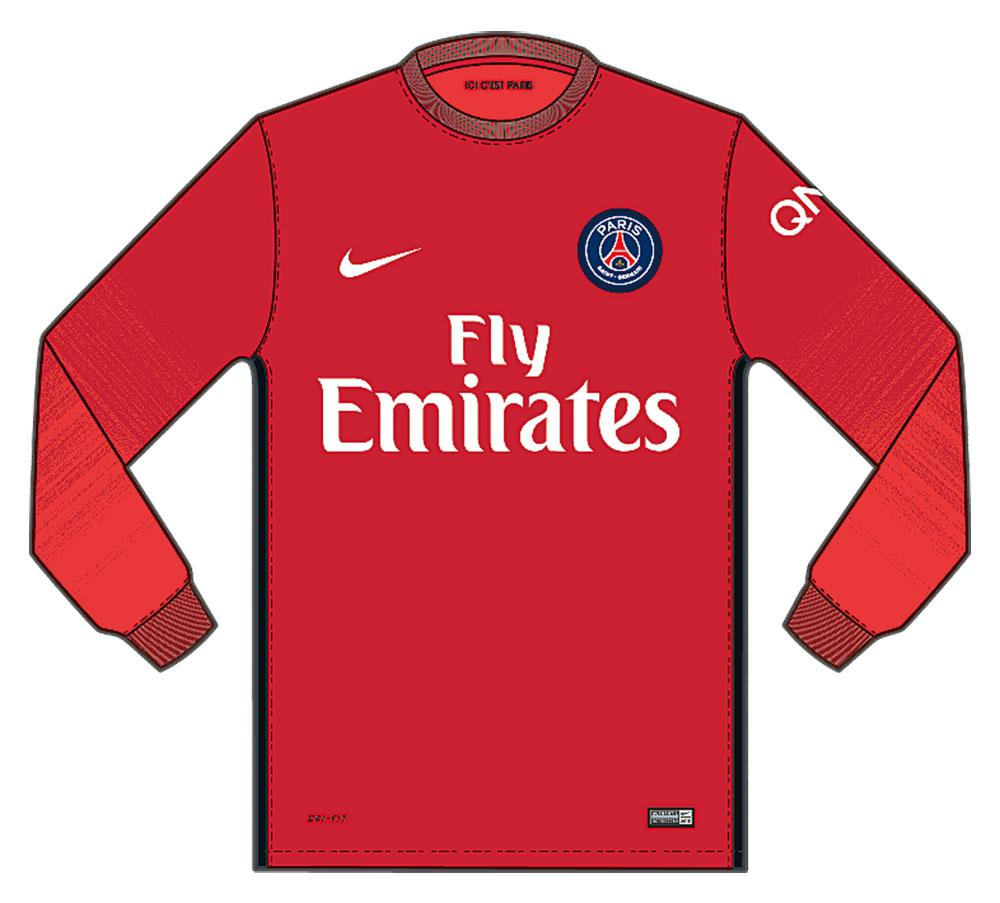 timeless design 0be67 35595 Nike Paris Saint-Germain Goalkeeper Stadium L/S Jersey