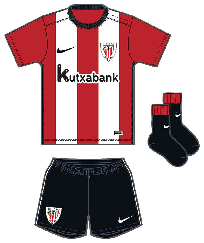 de07008962d Nike Athletic Bilbao Home Infants Kit 2015-2016