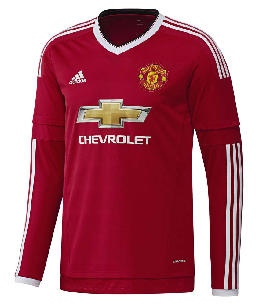 37ac1e2eb adidas T Shirt Manchester United L/S Rosso, Goalinn