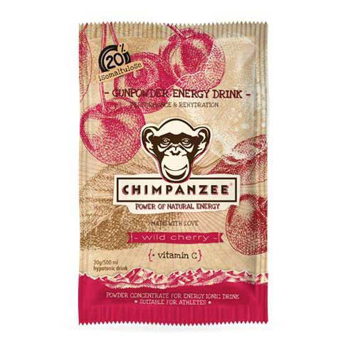 Chimpanzee Gunpowder Energy Drink Envelope Wild Cherry 30gr