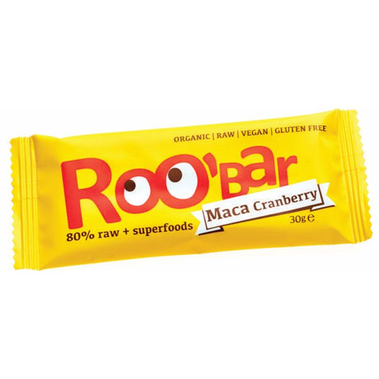 Roo´bar Raw Energy Bar Maca And Cranberries 30gr