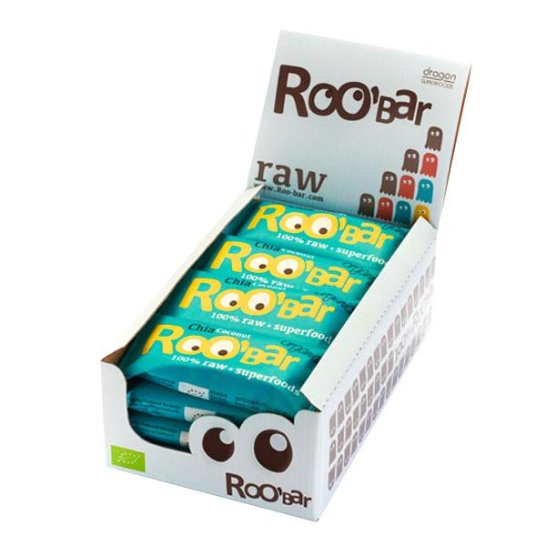 Roo´bar Raw Energy Bar Chia And Coconut 50gr X 16
