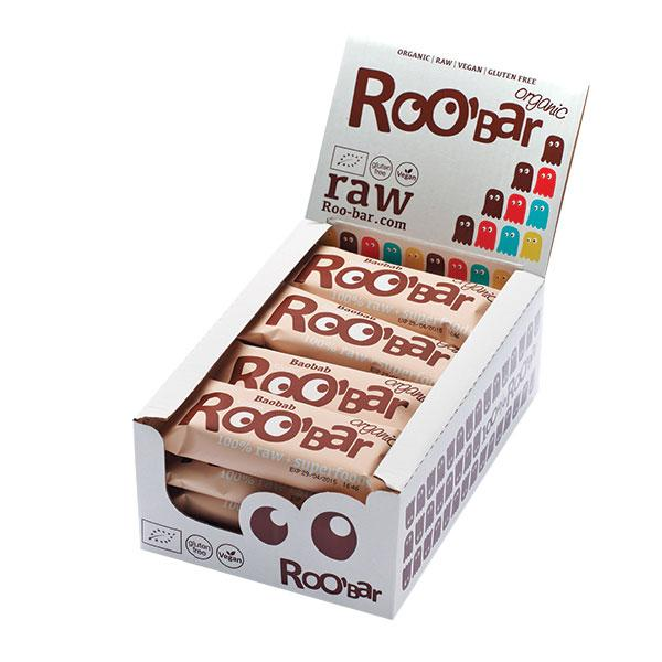 Roo´bar Raw Energy Bar Baobab And Ginger 50 G X 16