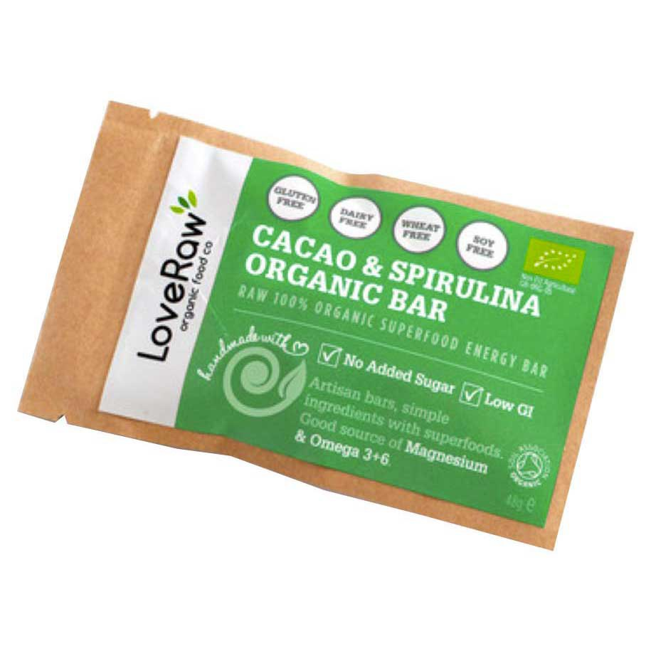 Loveraw Bar Cocoa And Spirulina 48gr x 12 Units
