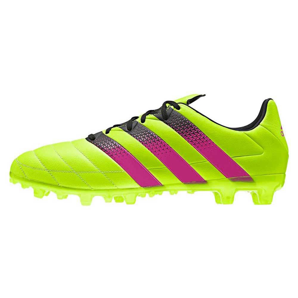 c0ed59aca ... boots firm ground shock blue semi solar slime white spain adidas ace  16.3 fg ag leather e27a9 afc54 ...