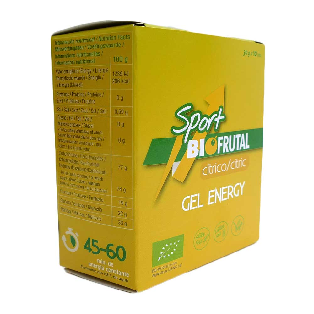 Biofrutal Gel Energy Citric 30gr x 10 Units