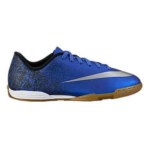 Nike Mercurial Vortex II Cr7 IC Junior Deep Royal Blue   Metallic Silver    Racer Blue c3a1f1adeb0df
