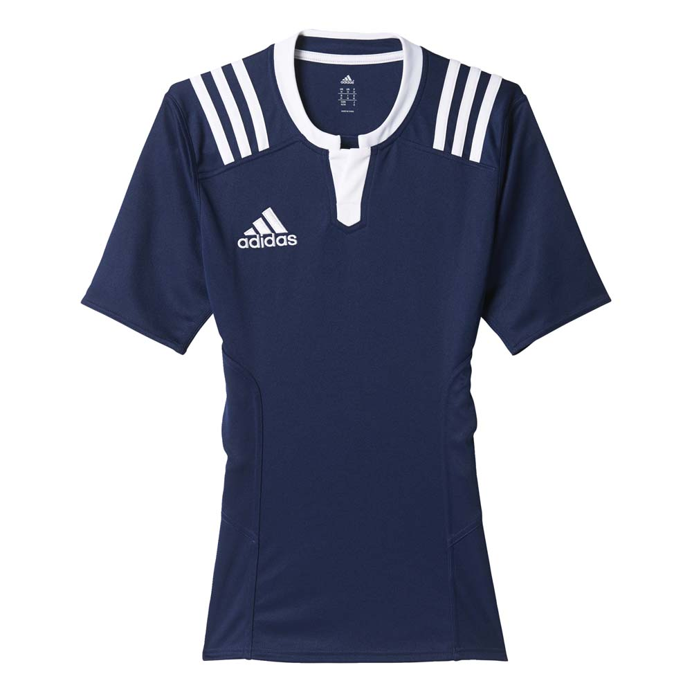 adidas 3 Stripes Fitted Rugby Jersey