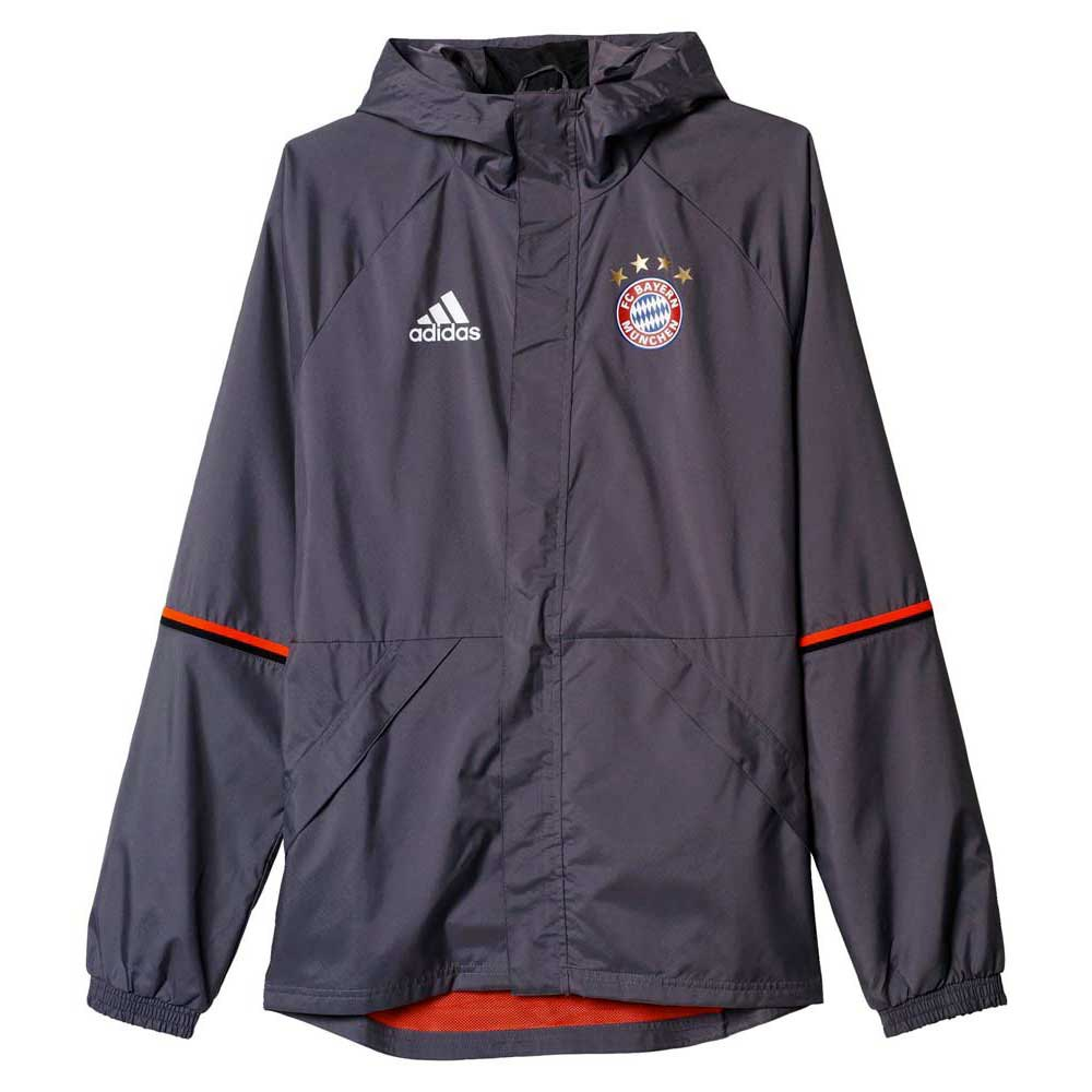 adidas fc bayern munchen rain jacket buy and offers on goalinn. Black Bedroom Furniture Sets. Home Design Ideas