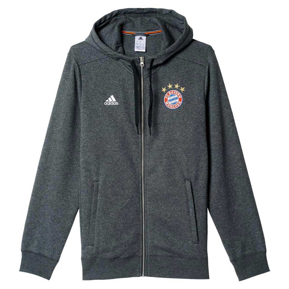 adidas fc bayern munchen 3s hoodie zipper dark grey. Black Bedroom Furniture Sets. Home Design Ideas