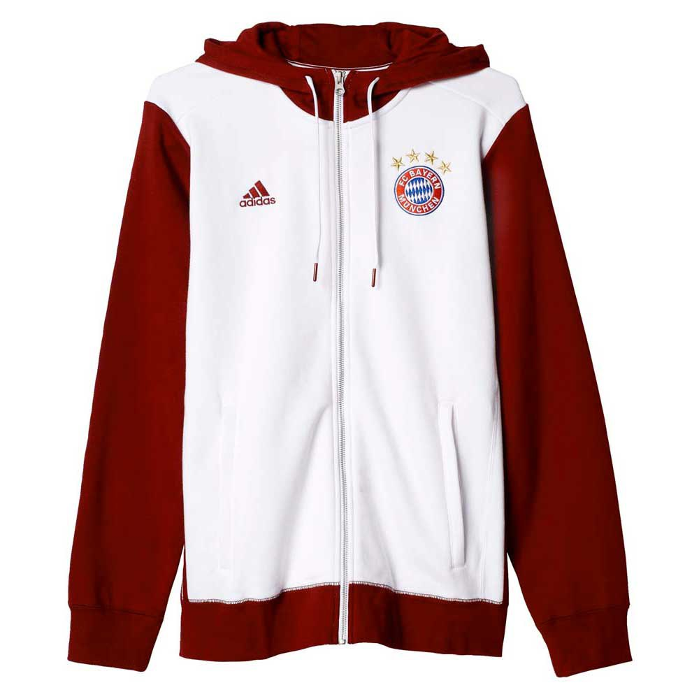 adidas fc bayern munchen 3s hoodie zipper goalinn. Black Bedroom Furniture Sets. Home Design Ideas