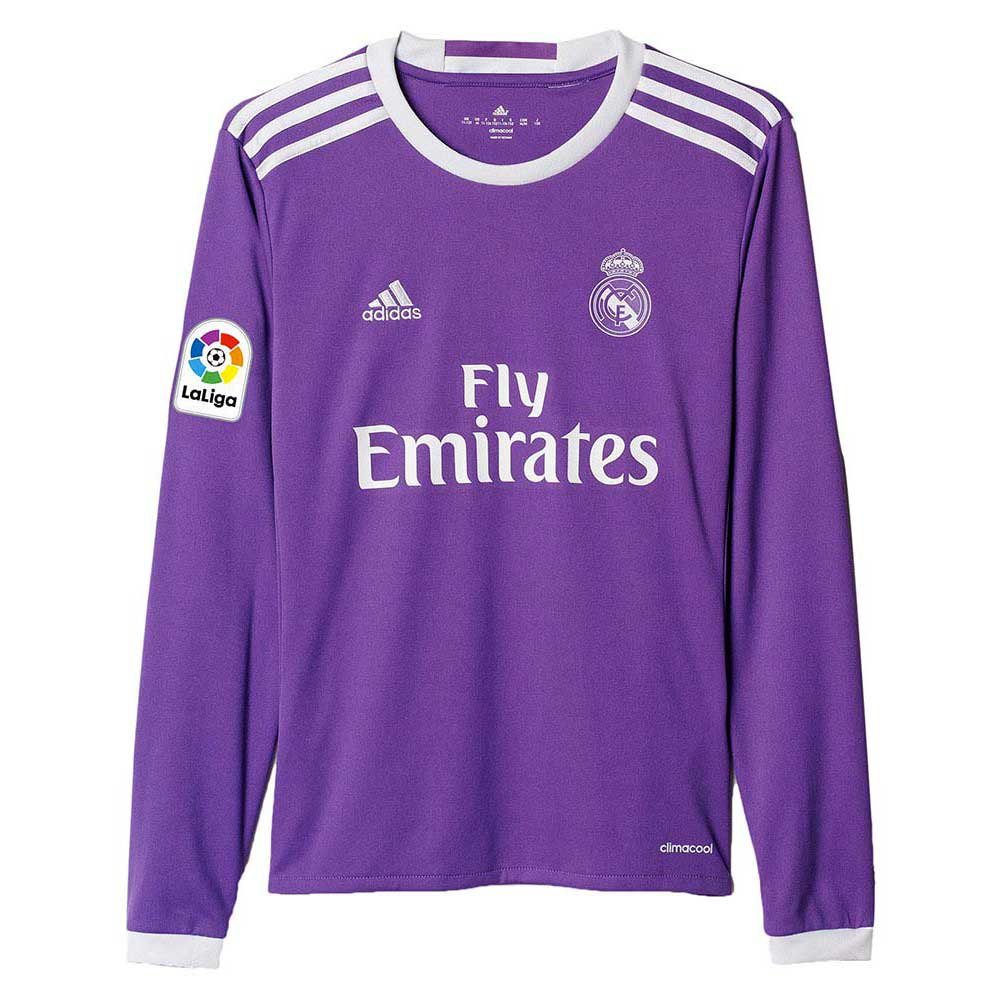 adidas Real Madrid Away Jersey LS Junior