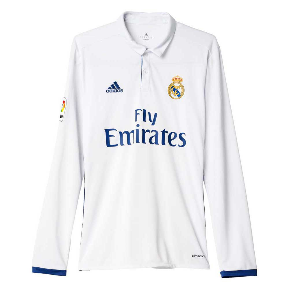 adidas Real Madrid Home Jersey LS