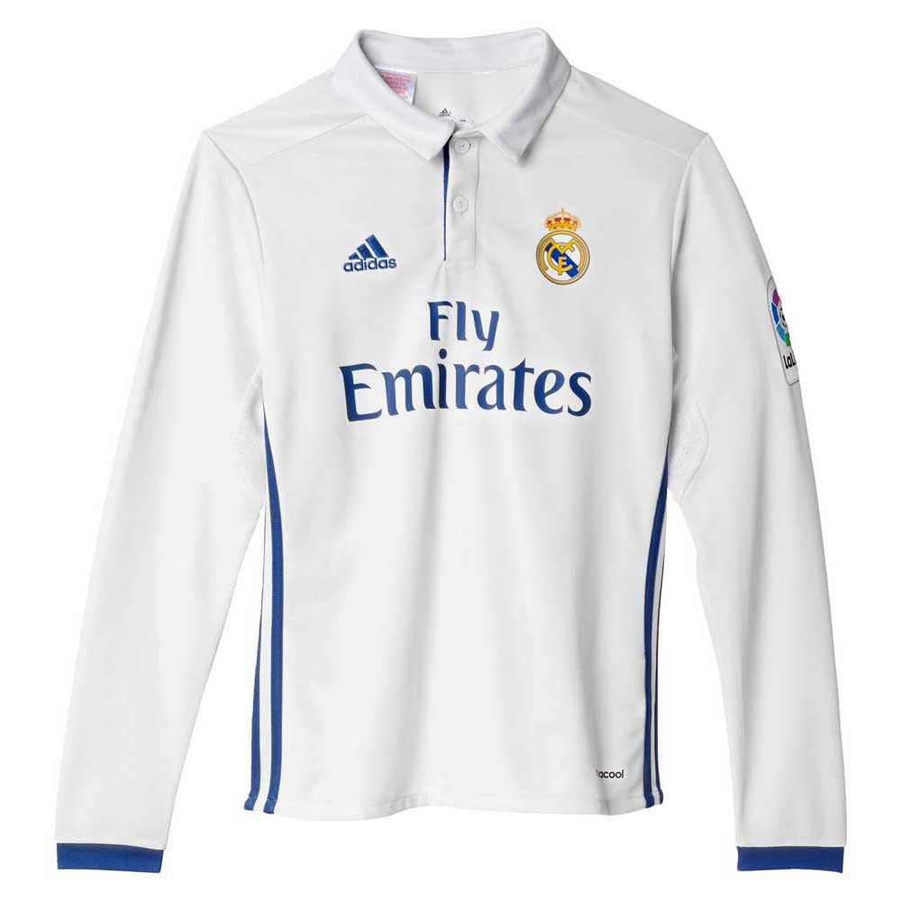 adidas Real Madrid Home Jersey LS Junior