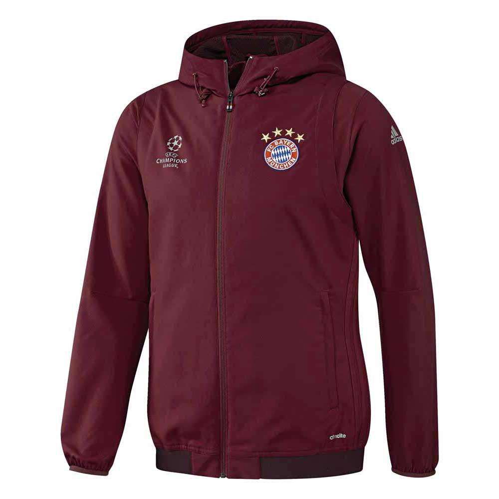 adidas fc bayern munchen ucl pre jacket buy and offers on. Black Bedroom Furniture Sets. Home Design Ideas