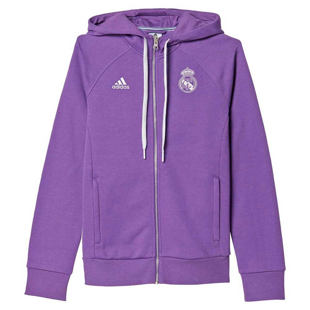 adidas Real Madrid 3S Hooded Zip Woman