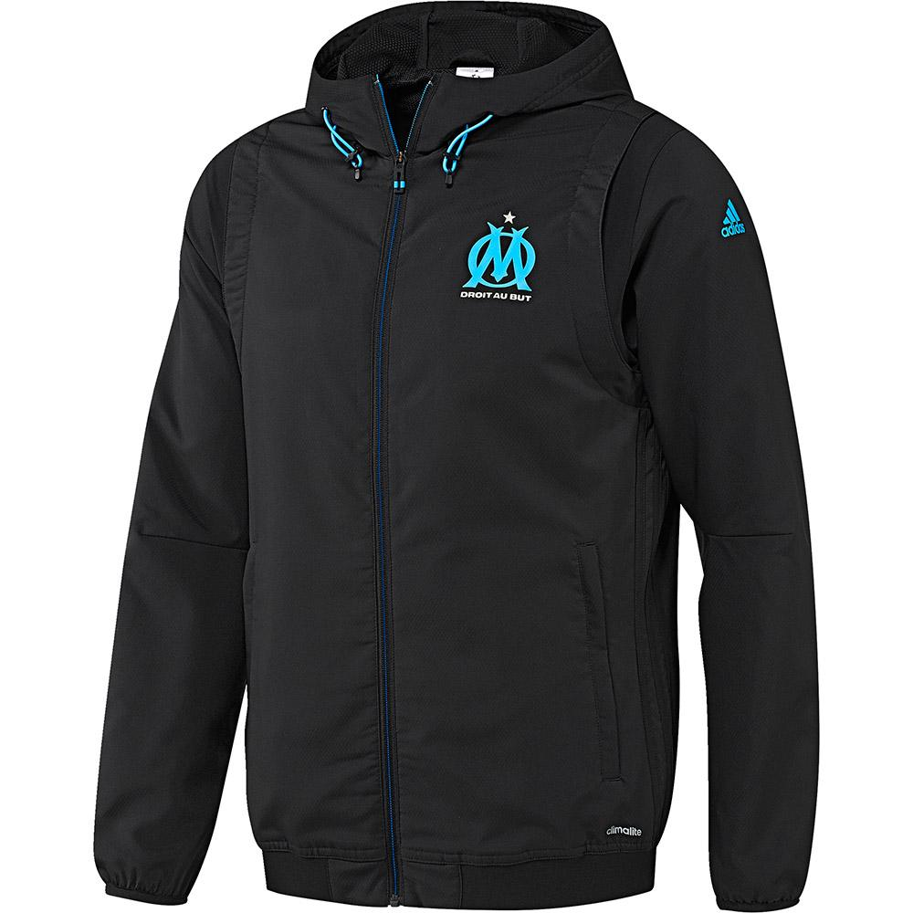 adidas olympique marseille eu pre jacket buy and offers on. Black Bedroom Furniture Sets. Home Design Ideas