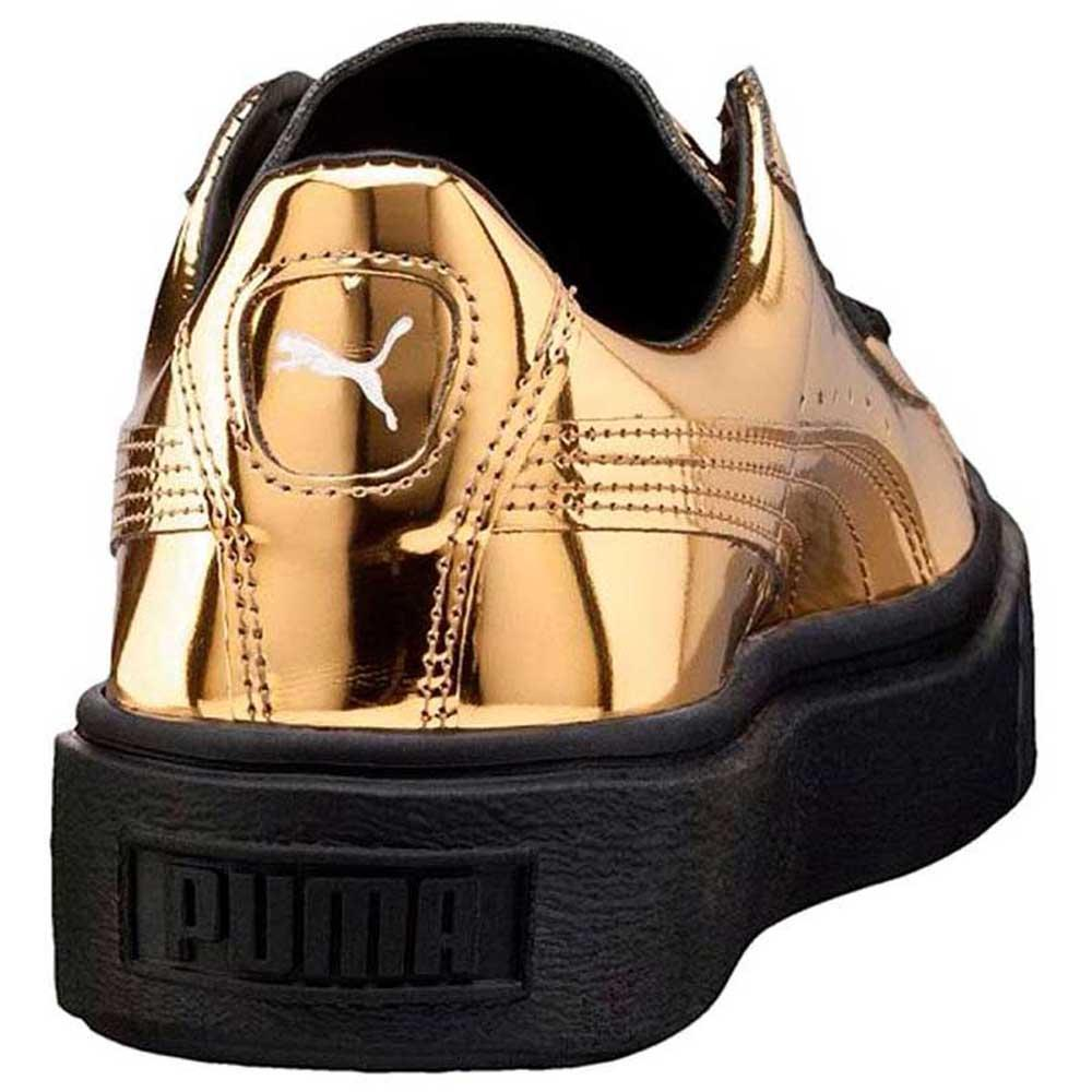 488b7d3fb221 Puma Basket Platform Metallic buy and offers on Goalinn