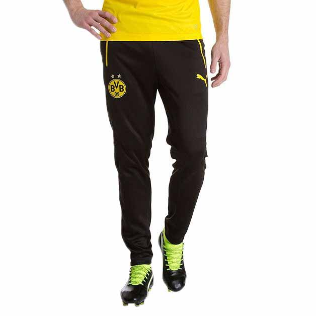 Training Bvb NoirGoalinn With Puma Pantalons Pockets WHED29I