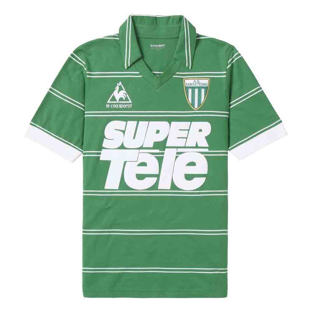 Le coq sportif AS Saint Etienne Maillot Super Tele 81 Jersey Green ... fc734b35a