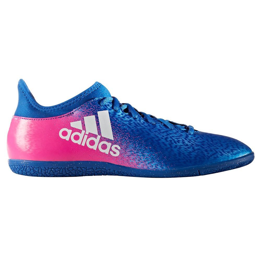 Chuteira Futsal Adidas X 16.3 IN Azul e Rosa
