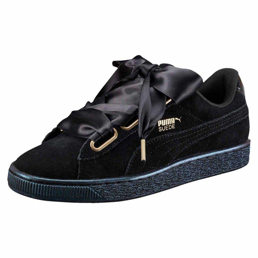 puma heart suede satin
