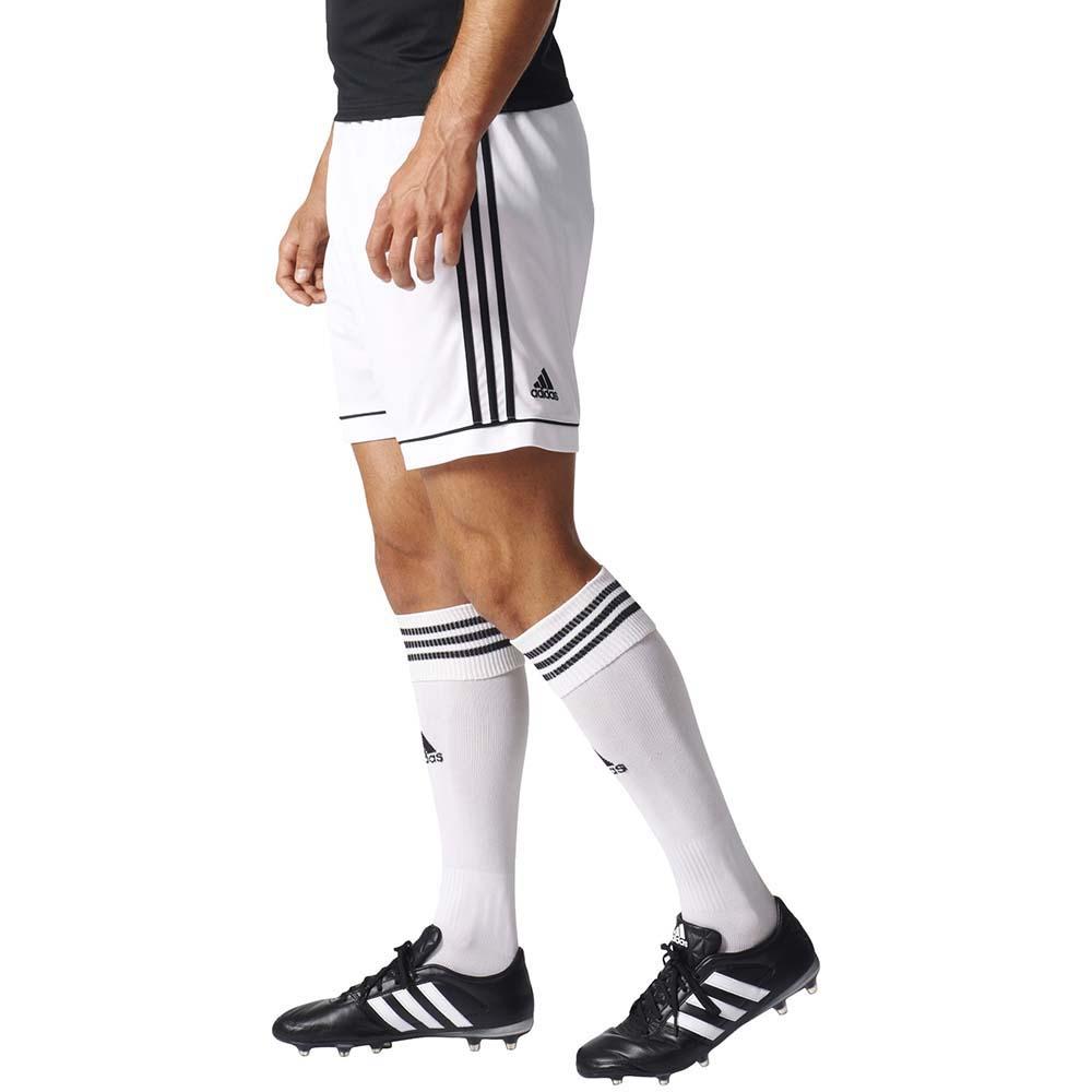 Calção Adidas Squadra 17 Branco Masculino Branco e Preto