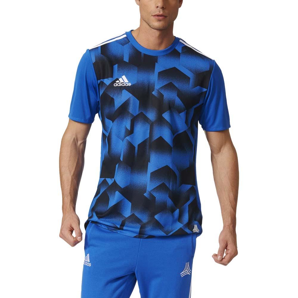 adidas Tango Cage Graphic Jersey Short Sleeve T-Shirt Blue, Goalinn