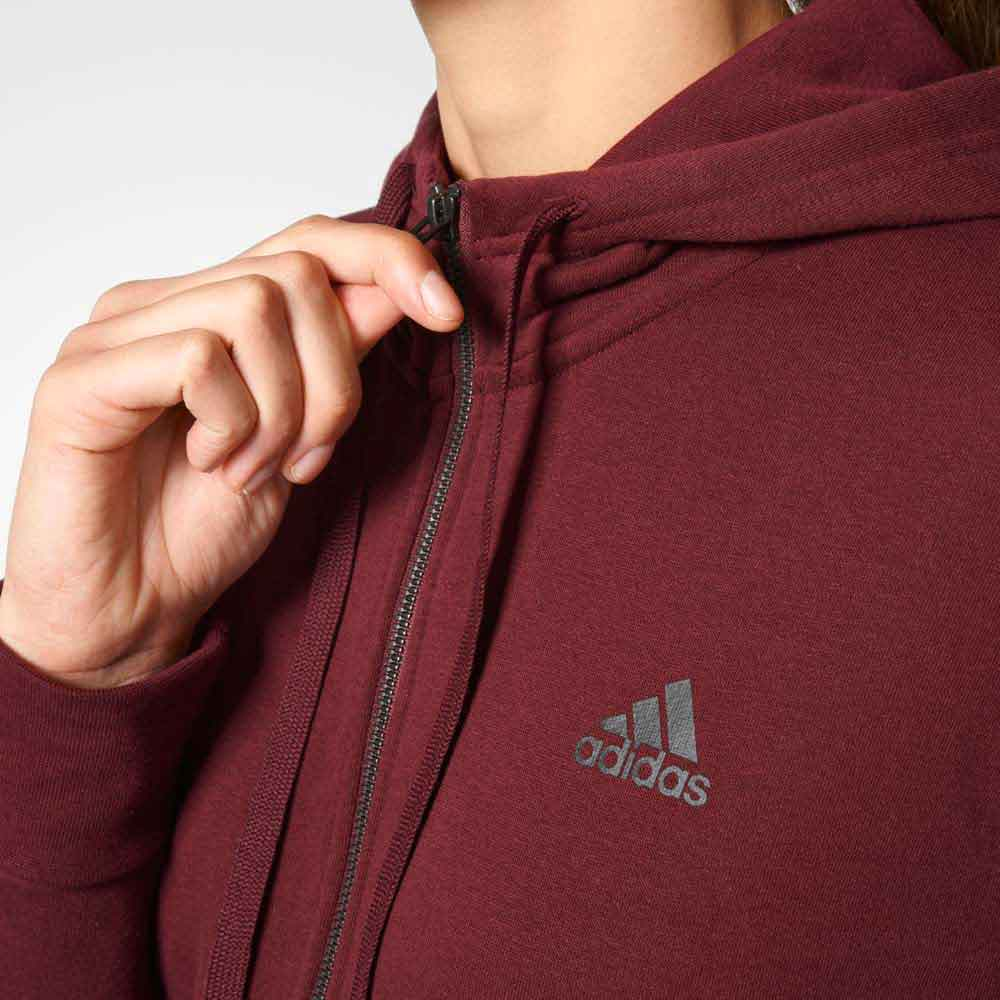 Essentials 3 Stripes Full Zip Hoodie