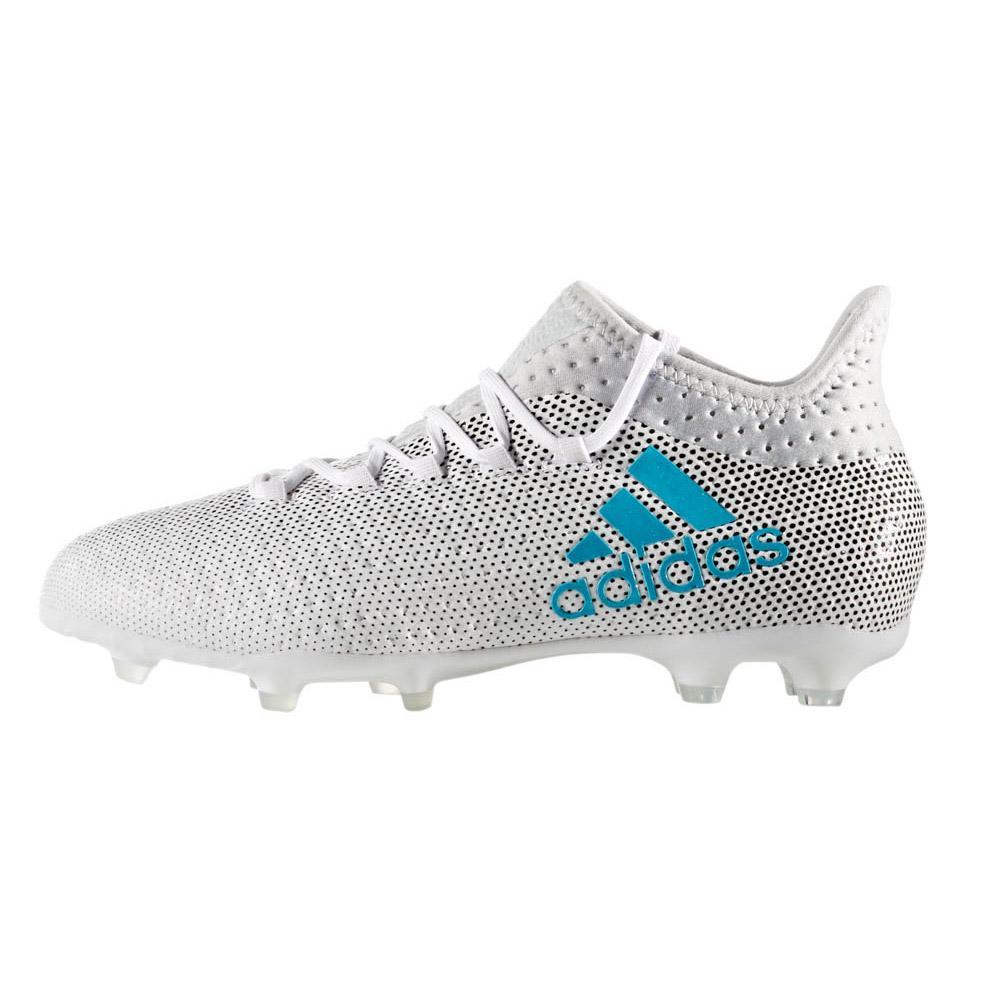 adidas Chaussures Football X 17.1 FG Blanc, Goalinn