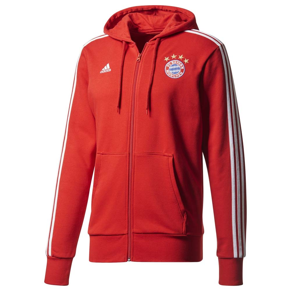 Clubs Adidas Fc Bayern Munich 3s Full Zip Hoodie