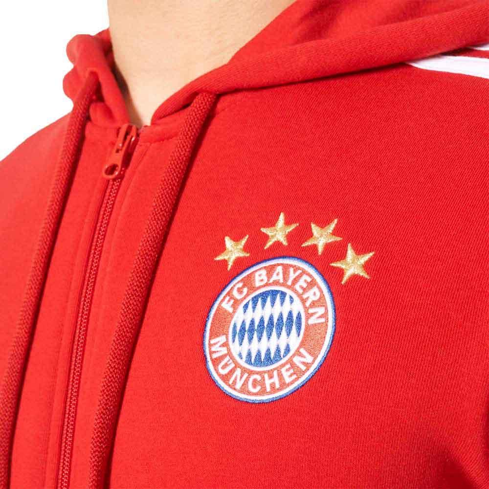 adidas FC Bayern Munich 3S Full Zip Hoodie , Goalinn Fotball