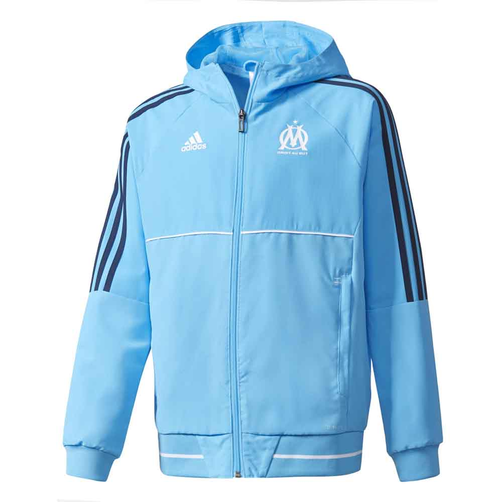 Clubs Adidas Olympique Marseille Pre Jacket Junior