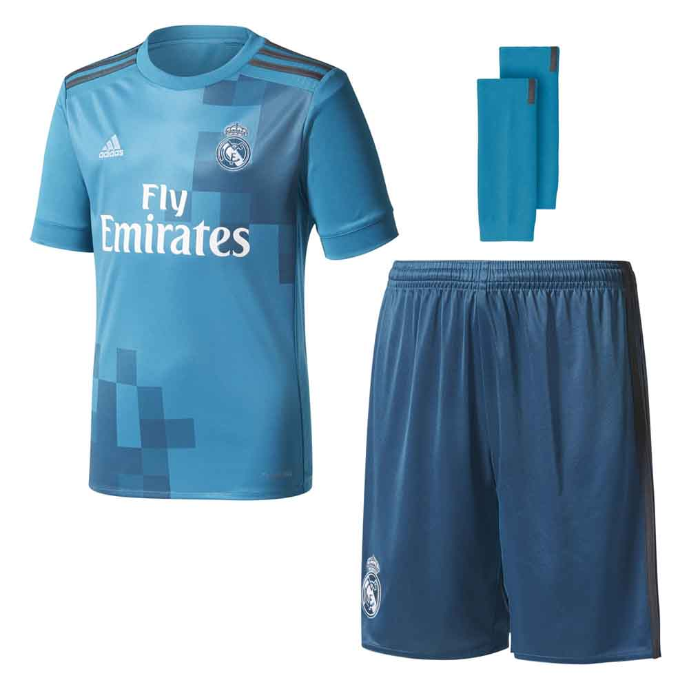 dd86d3806 adidas Real Madrid 3rd Kit Junior Blue buy and offers on Goalinn