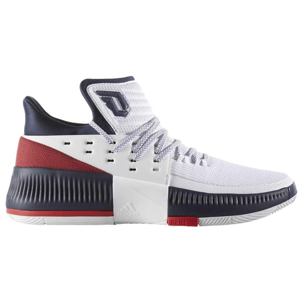 780b95bea0bd adidas Dame 3 White buy and offers on Goalinn