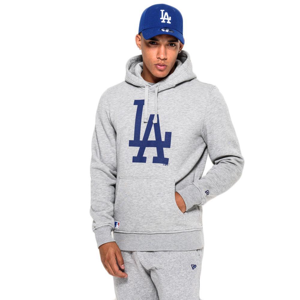 New era LA Dodgers Pullover Hoodie Grigio 2bc49b9b83be