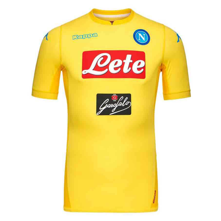 Kappa Ssc Napoli Away 17 18 Yellow Buy And Offers On Goalinn