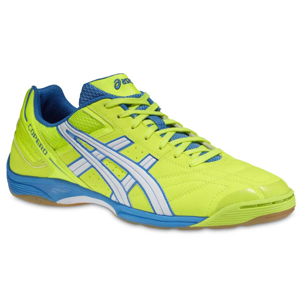 Asics Copero S Indoor Football Shoes Blue, Goalinn