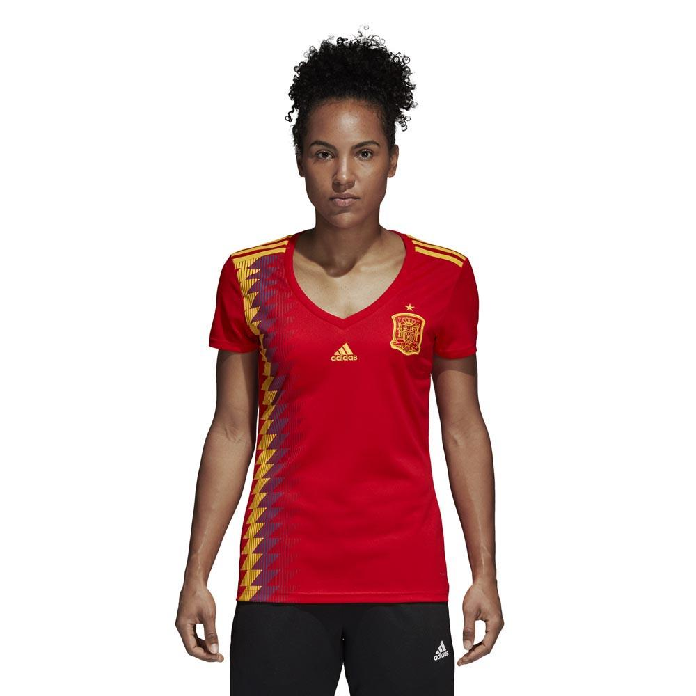 adidas Spain Home Jersey Woman Red   Bold Gold 3dc55ae4e