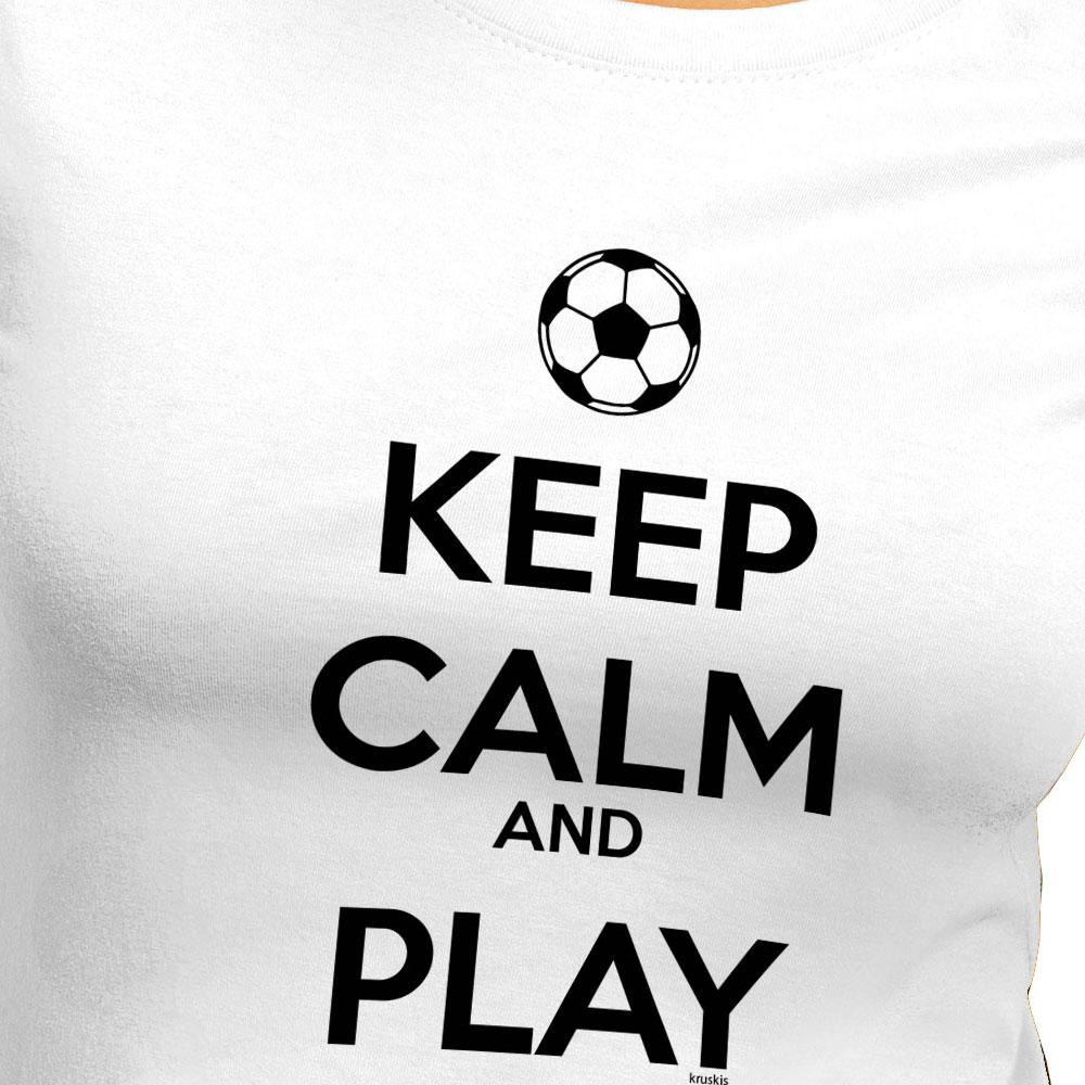 kruskis keep calm and play football 白 goalinn