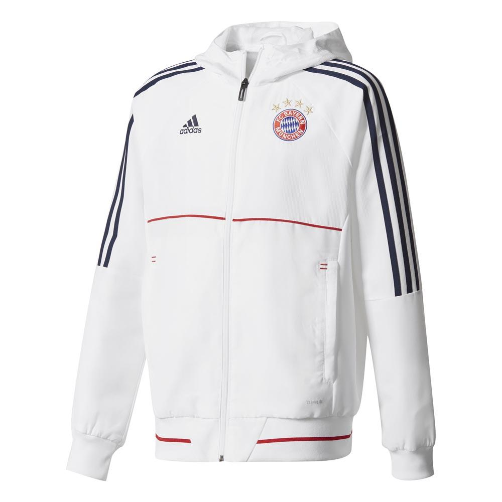 adidas FC Bayern Munich Presentation Jacket Junior Hvit